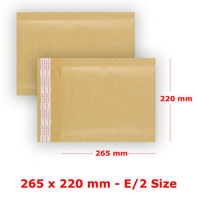 S5 - E/2 Padded Bubble Wrap Manilla Envelopes Gold Mailer Strong Quality Bags