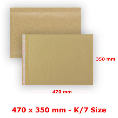 S10 - K/7 Padded Bubble Wrap Manilla Envelopes Gold Mailer Strong Quality Bags