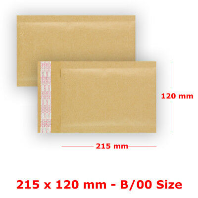 S2 - B/00 Padded Bubble Wrap Manilla Envelopes Gold Mailer Strong Quality Bags
