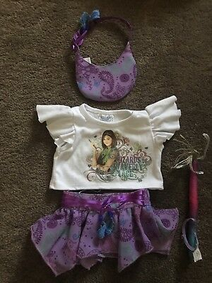 Build A Bear BAB Wizards Of Waverly Place T Shirt, Skirt, Wand & Hat