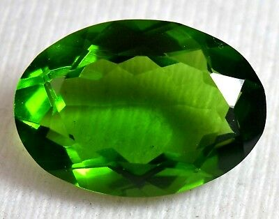 27.75 Green PERIDOT Loose Gemstone Awesome Shape GGL Certified Top Quality