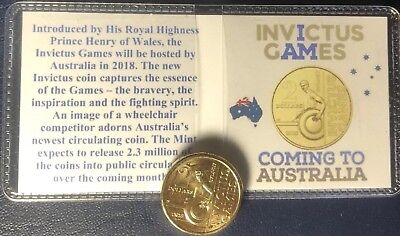 2018 Invictus Games $2 Coin Unc. Ex Ram Bag + Collector Flip Free Post Offers