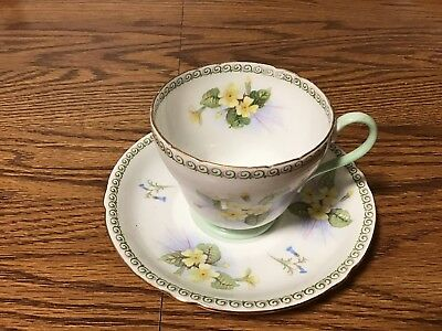 Vintage Shelley Fine Bone China Tea Cup and Saucer Set 13524  Nice!!