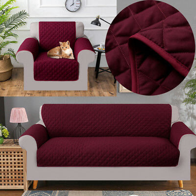 REVERSIBLE Quilted Sofa Chair Settee Pet PROTECTOR SLIP COVER Waterproof Throw