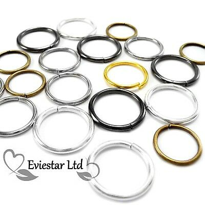 EXTRA LARGE JUMP RINGS 8,10,12,14,16,18,20 mm METAL OPEN JUMPRINGS (MNO)
