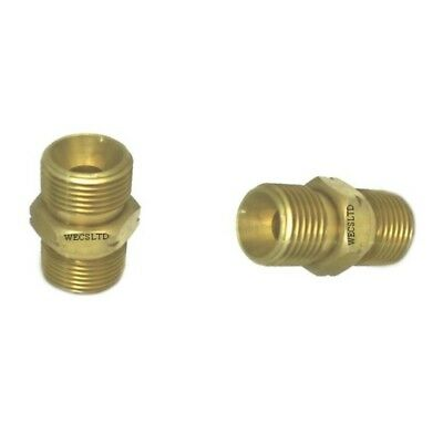 "Oxy Acetylene 3/8"" BSP Hose Joiners Equal Couplers Left Hand Thread Connectors"