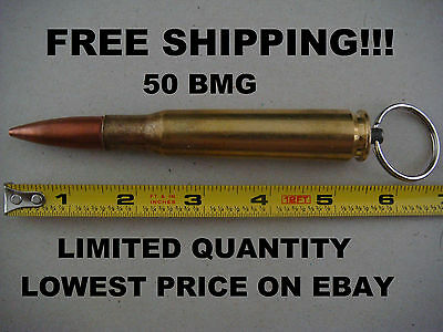 50 Cal Browning Bullet Keychain .50 Caliber Military Key Ring