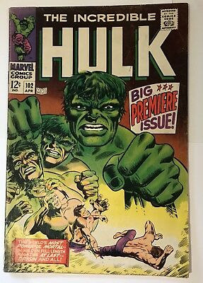 The Incredible Hulk #102 - Great Cover - Solid Issue- Key Marvel Silver Age