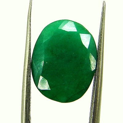 5.76 Ct Certified Natural Green Emerald Loose Oval Cut Gemstone Stone - 131249
