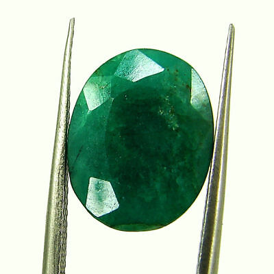 5.40 Ct Certified Natural Green Emerald Loose Oval Cut Gemstone Stone - 131260
