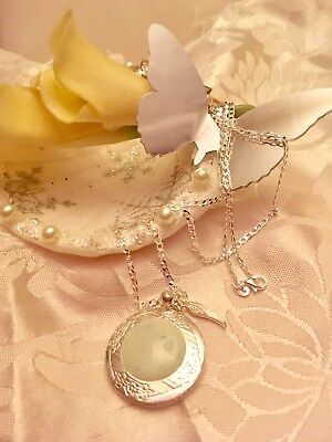 "💜breast Milk💜trinket Locket/Sterling Sil24""chain(round)See Del Time/in a Box."
