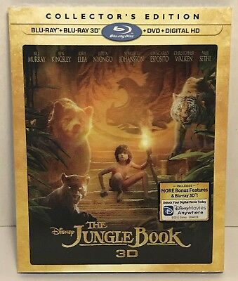 The Jungle Book - 3D (Blu-ray/DVD, Collector's Edition, Disney) **BRAND NEW**