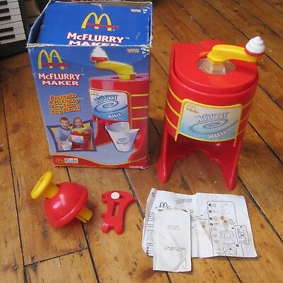McDonalds McFlurry Maker Vintage Plastic Toy Retro Advertising Fast Food Boxed