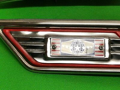 Lambretta Super Star Series 3 Sidepanel Embellishers Red (Reduced Shop Soiled)