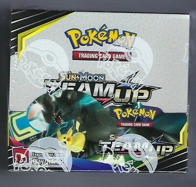 Pokemon Team Up Sun & Moon Booster Box Factory Sealed