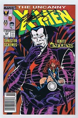 Uncanny X-Men #239 Newsstand VF/NM Signed w/COA by Chris Claremont 1988 Marvel