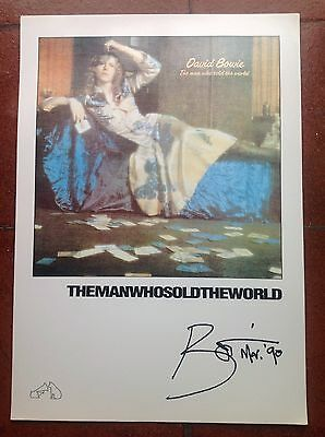 David Bowie Rare HMV Promo Print :Man Who Sold The World
