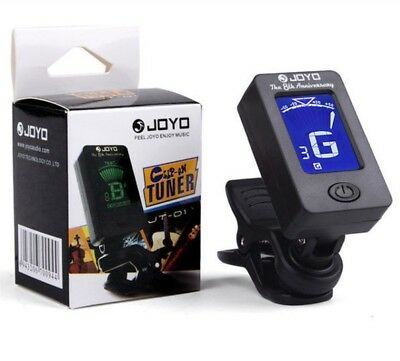 🎸 Joyo JT-01 Clip-On Chromatic Instrument Tuner, Guitar Bass Violin Accessories