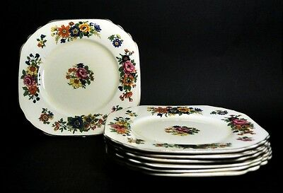 7 X Wedgwood and Co Ltd Square Sandwich Plates 6 Inch VTG | FREE Delivery UK*