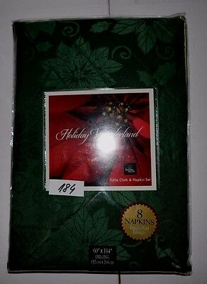 """Homewear Holiday Wonderland Collection Table Cloth and Napkin Set - 60""""x104"""""""
