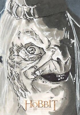 The Hobbit An Unexpected Journey, Sketch Card by Damien Torres 1/1
