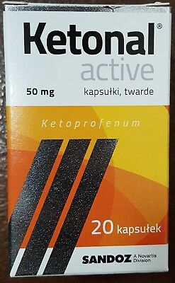 Ketonal ACTIVE 50mg 20 capsules **TOP Quality**