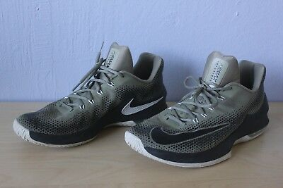 new style 99d7d b1001 Men s Nike Air Max Infuriate Low Basketball Shoes Size 11.5 dark green black