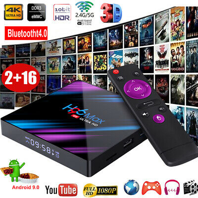 H96 MAX Android 9.0 Pie Quad Core 4K HD Smart TV BOX Dual WIFI 3D USB3.0 RK3318