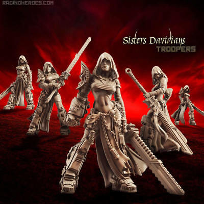 Raging Heroes Sisters of the Orphanage -  Davidians Troops - NEW