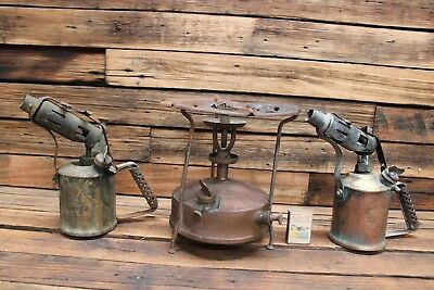 Vintage Brass Companion Blowtorch Stove Lamp Soldering Tool Old Max Sievert