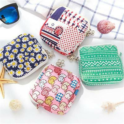 Portable Female Napkin Towel Storage Bags Sanitary Pad Purse Cosmetic Pouch MA
