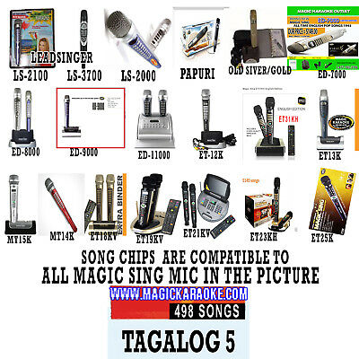 Magic Sing EnterTech Tagalog 5 Song Chip 500 Songs Also compatible to ET23PRO