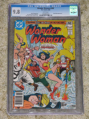 Wonder Woman 268 CGC 9.8. Pre-Crisis Animal Man. 1st app Lumberjack. DC, 6/80.