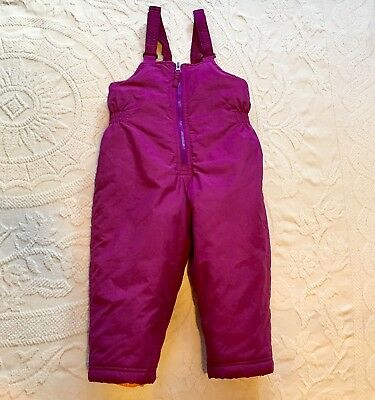 ed5c28693 TODDLER SNOW BIBS Girls 2T 2 Purple Pants Snowboard Winter Ski Board ...