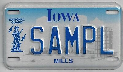 IOWA SAMPLE MOTORCYCLE LICENSE PLATE Nation Guard