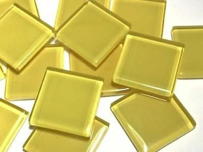 Yellow Coloured Glass Mosaic Tiles 2.5cm (No. 6) - Art Craft Supplies