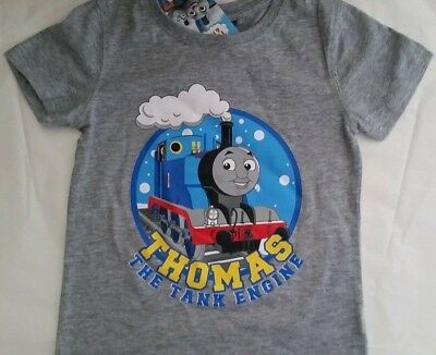 THOMAS & FRIENDS Boy Licensed short sleeve tee t shirt top grey NEW size 4