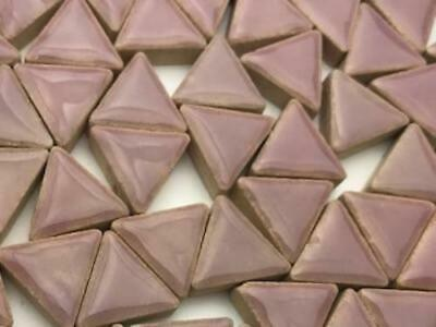 Lilac Ceramic Triangles - Mosaic Tiles Supplies Art Craft