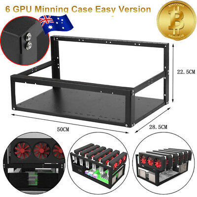 """Coin Open Air Mining Miner Frame Rig Case Holder For 6 GPU Scrypt ETH 11.8""""*9.8"""""""