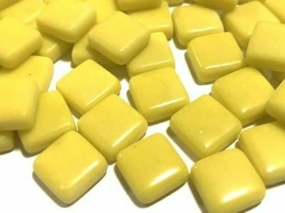 Yellow Gloss Glass Mosaic Tiles 1cm - Art Craft Supplies