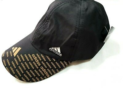 Adidas Black with Gold Mens Womens Baseball Cap Sports Golf Running Train Hot!!