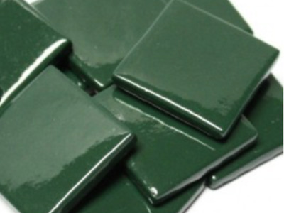 Dark Green Gloss Glass Mosaic Tiles 2.5cm - Art Craft Supplies