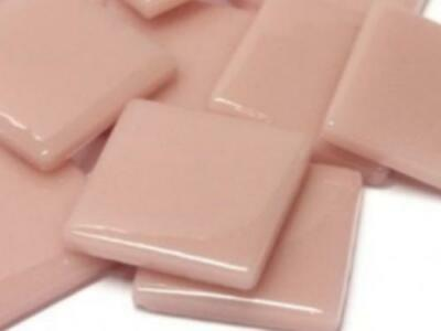 Rose Petal Gloss Glass Mosaic Tiles 2.5cm - Art Craft Supplies