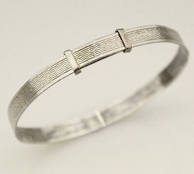 Vintage Sterling Silver Bangle Deco 30s Girls Jewelry Bracelet Jewellery Small