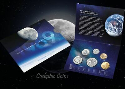 2019 Uncirculated 50th Anniversary of the Moon Landing Mint Set RAM
