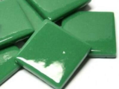 Spruce Green Gloss Glass Mosaic Tiles 2.5cm - Art Craft Supplies