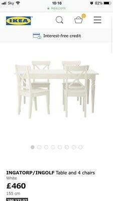 Ikea Ingatorp Extendable Table And 4 X Ingolf Chairs 460 00