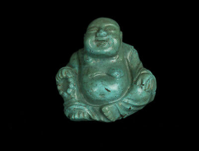 China 19./20. Jh. Türkis Buddha - A Chinese Turquoise Figure of Budai - Chinoise