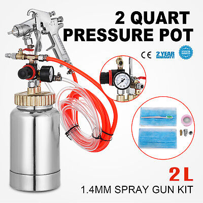 2L/2 Quart 1.4mm Nozzle Paint Sprayer 1/4 Air Inlet Tool Painting with Spray Gun