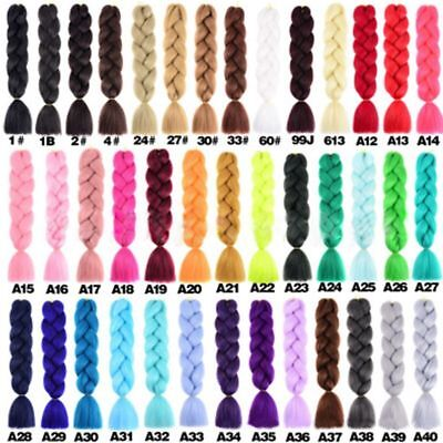 Braiding Hair Synthetic Extension Non-toxic 80cm 31in 1pc Jumbo Ombre Kanekalon